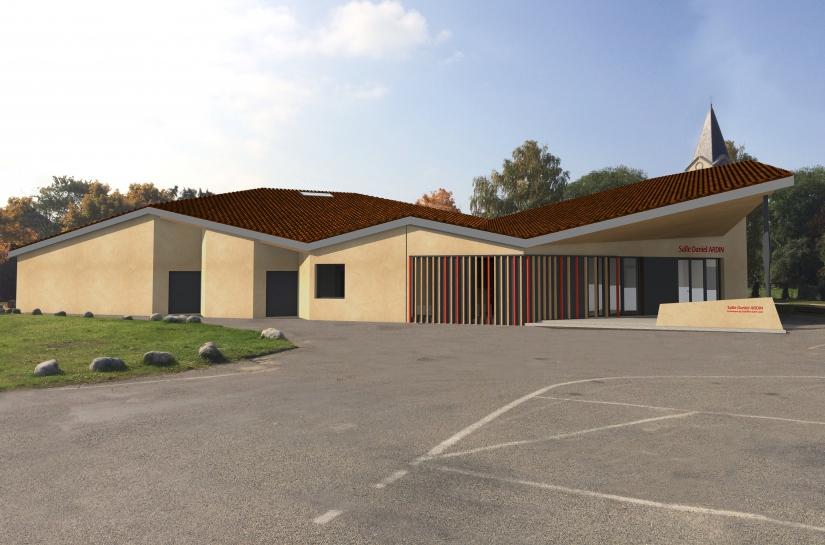 Salle des fête Daniel Ardin Chatillon Saint Jean Benjamin Ballay Architecte