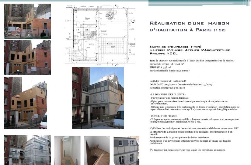 Architecte, Paris, ossature bois, maison