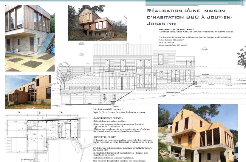 Architecte, Jouy-en-Josas, ossature bois, maison