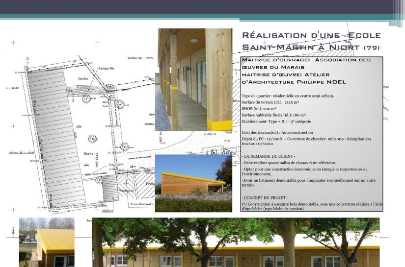 architecte, Niort, Ecole Privée, construction bois