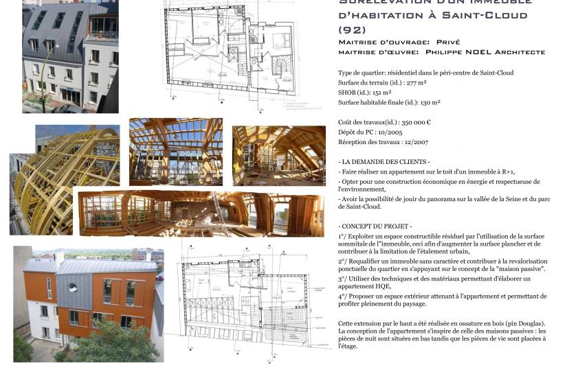 Architecte, Saint-Cloud, ossature bois, surélévation