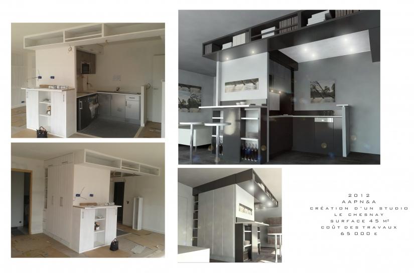 Architecte, Le Chesnay, rénovation, appartement
