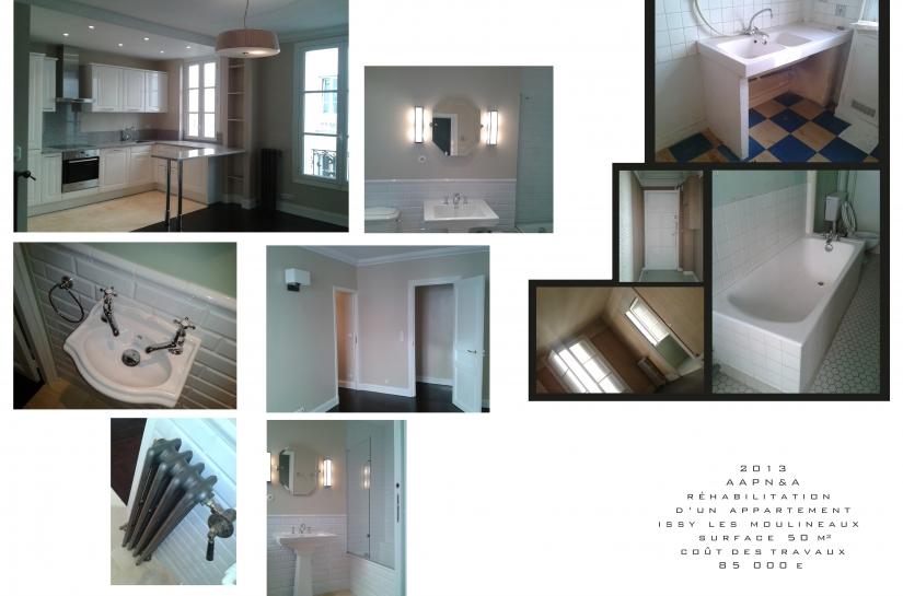 Architecte, Issy-les-Moulineaux, réhabilitation appartement