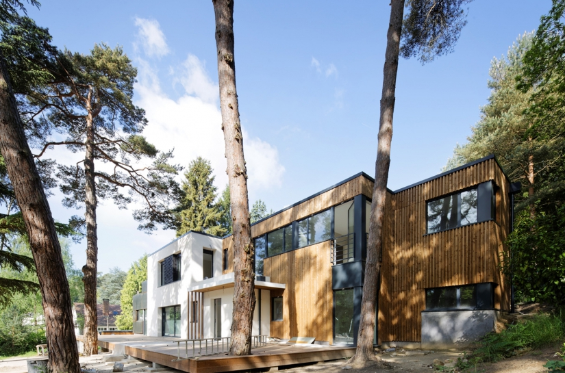 chantier, itteville, extension ossature et bardage bois, reprise structurelle lourde