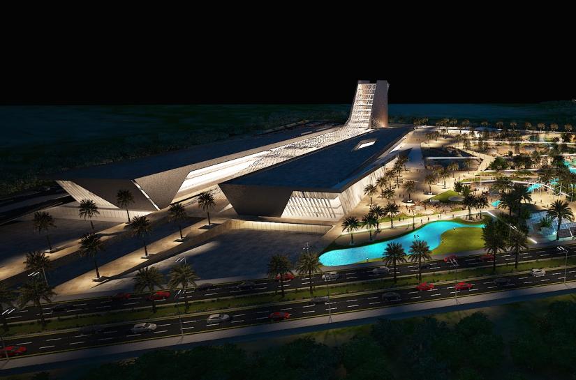 Science City Egypt, par SLA Architecture et BECT - Vue de nuit