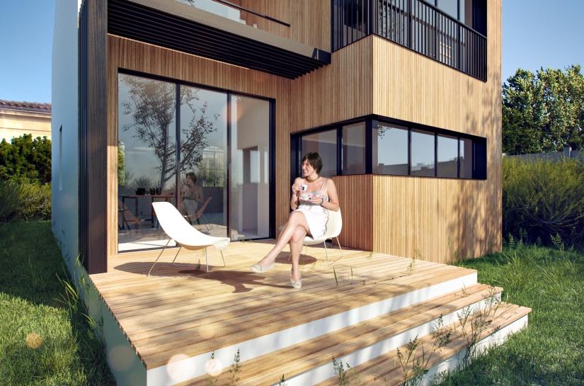 Maison MB coté jardin