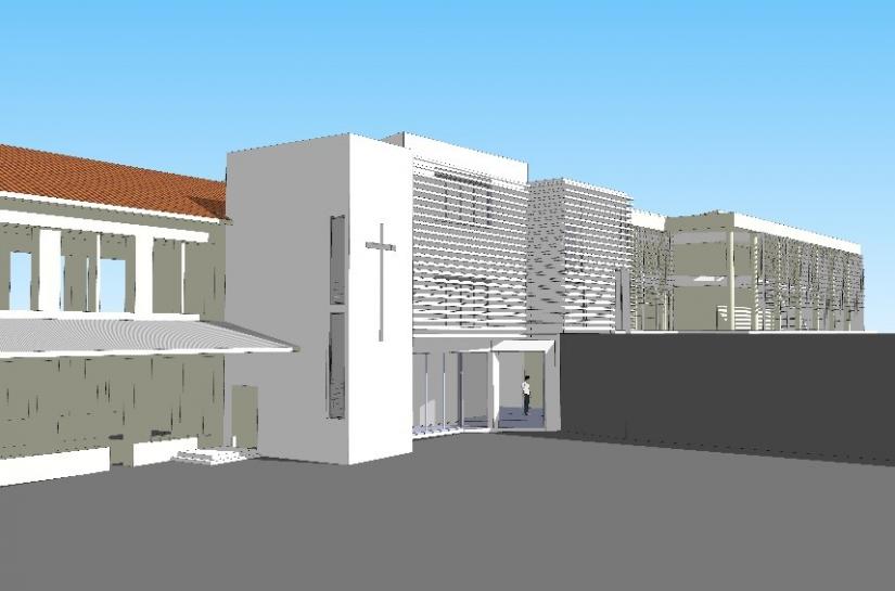 Perspective des travaux architecturaux Ecole Bon Accueil Toulon