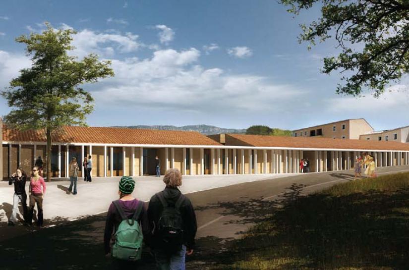 Construction de l'Ecole et de  l'Espace Thyde Monnier, Allauch [13]