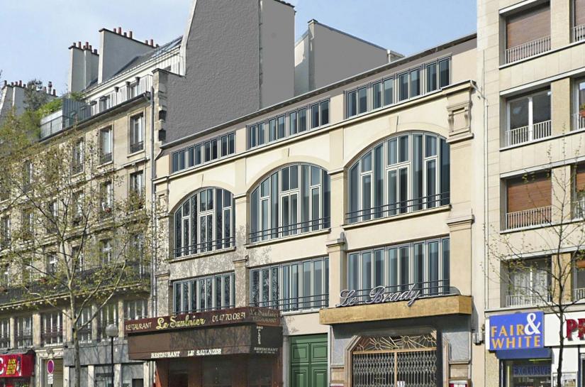 Passage Reilhac - la façade sur boulevard
