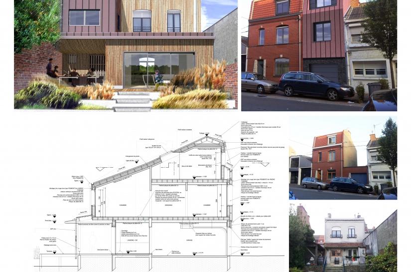 Extension et rénovation maison mitoyenne 1970