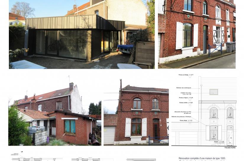 Rénovation maison 1930 nord