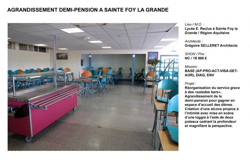 Agrandissement demi-pension
