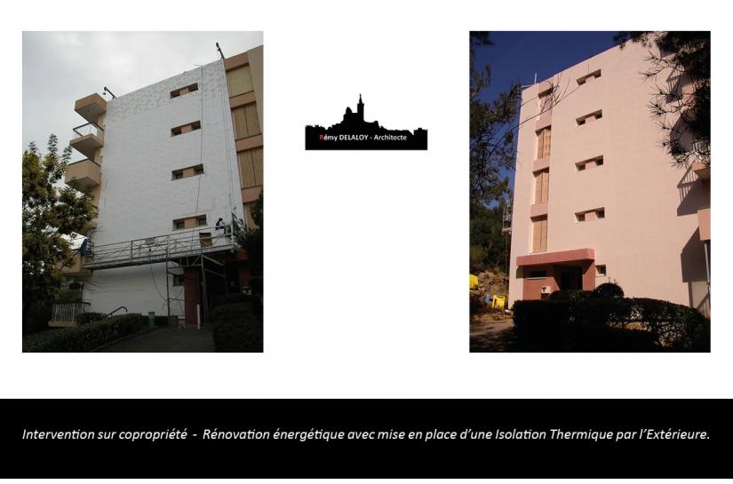 Rémy DELALOY architecte 13007 marseille / copropriété / rénovation énergétique / ravalement de façade / rénovation / étanchéité de balcon et terrasse / 13007 marseille / la ciotat / delaloy architecte