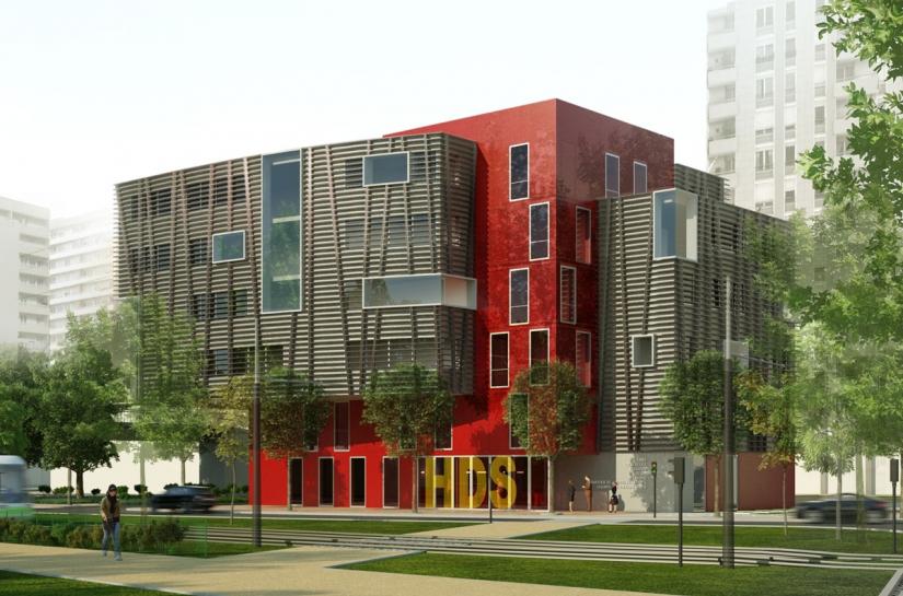 Hotel des Solidarités - vue extérieure, par SLA Architecture