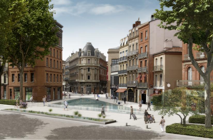 Concours Toulouse Centre Boulevard de Strasbourg - Dessein de ville - 2010