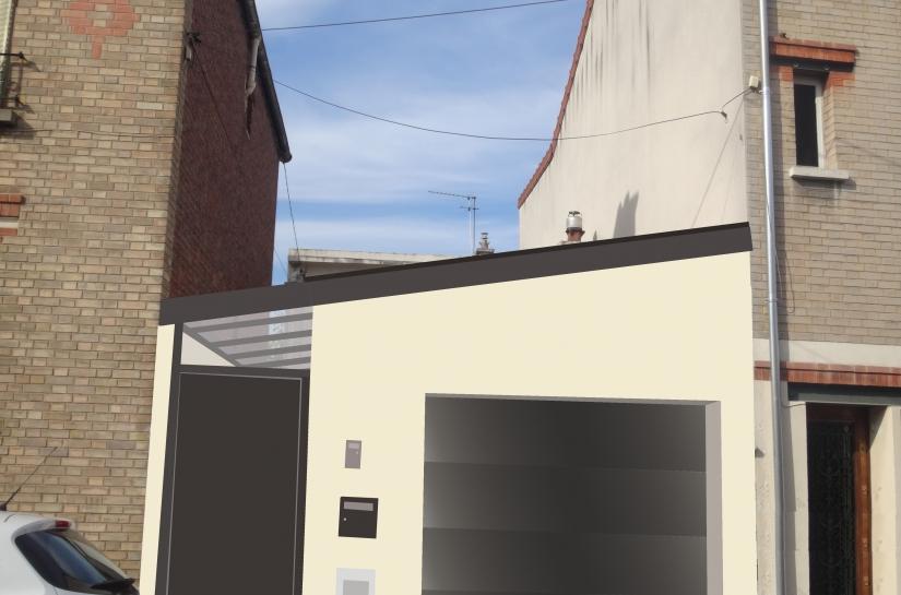 Maison LC5 - état projeté - rénovation extension surélévation genevieve gabrielli architecte yvelines