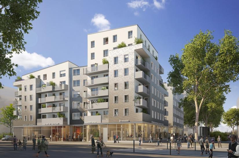 50 logements familiaux + 100 logements étudiants + commerces, Gennevilliers (92)