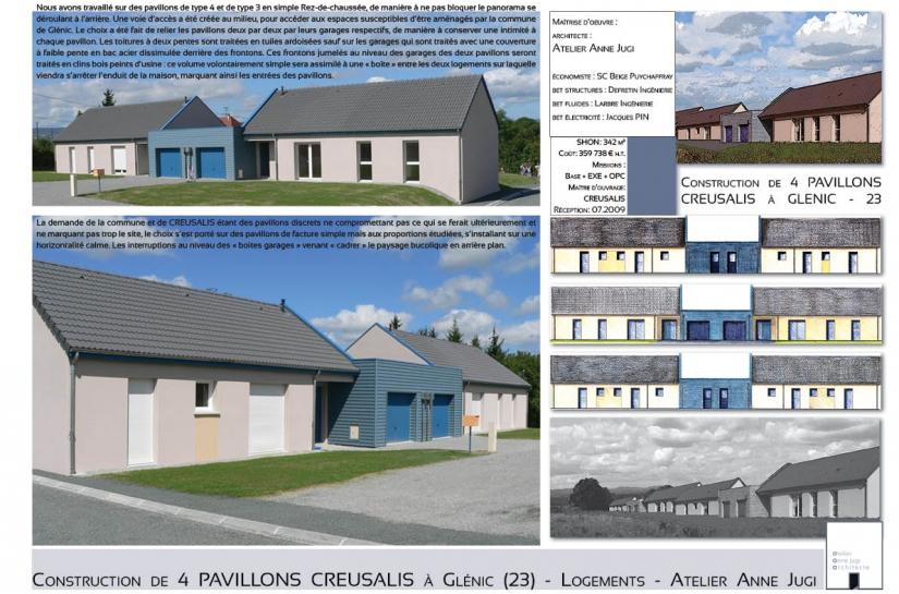 4 pavillons locatifs à Glénic