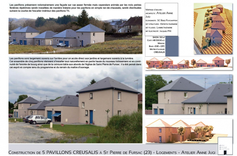 5 pavillons locatifs à FURSAC