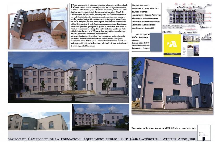 Extension et rénovation de la Maison de l'Emploi et de la Formation