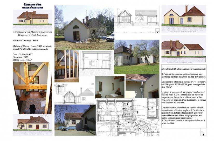 Extension d'une maison d'habitation à Azerables