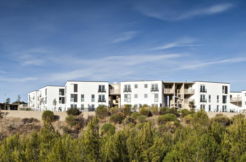 28 logements Les Angles - Grand Delta Habitat - Vue d'ensemble du projet
