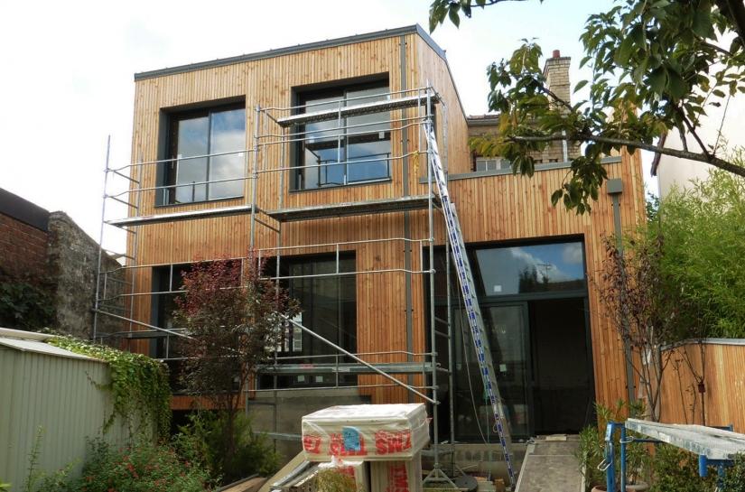 Extension sur jardin, ossature bois