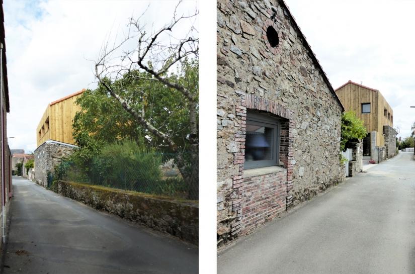 sacbé architecture - la maison derrière le mur