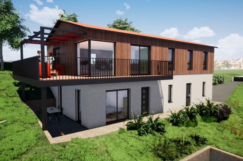 Construction Maison bois - Stéphen Mure Architecte - Saint-Etienne - Habitat & Maison passive