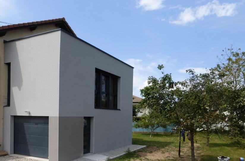 Extension maison individuelle - Stéphen Mure architecte - Saint-Etienne - Habitat & Maison passive