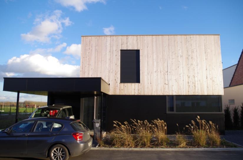 maison contemporaine en ossature bois à Bondues