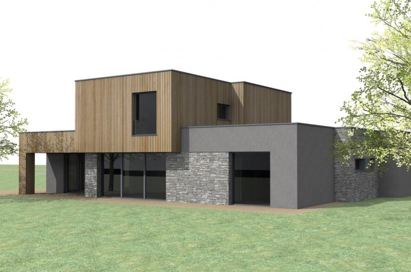 Projet neuf toiture terrasse