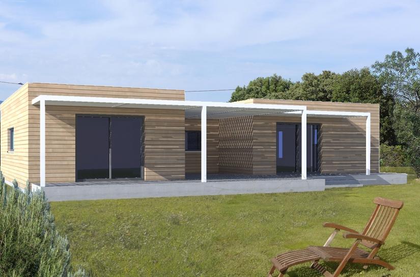 Villa ossature bois basse consommation à Causse de la Selle 34