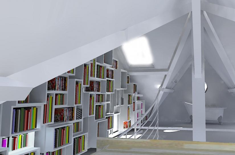 Vue sur la bibliothèque