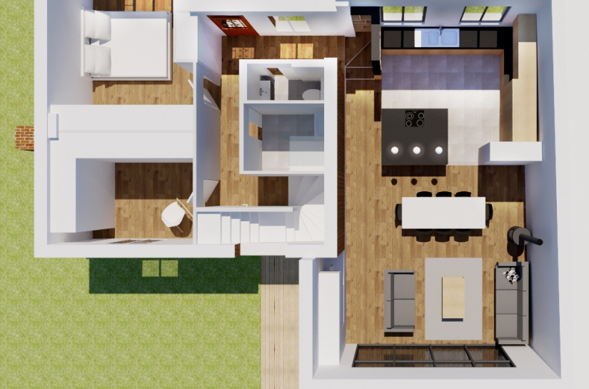 Extension et rénovation de maison, Alice Platriez Architecte