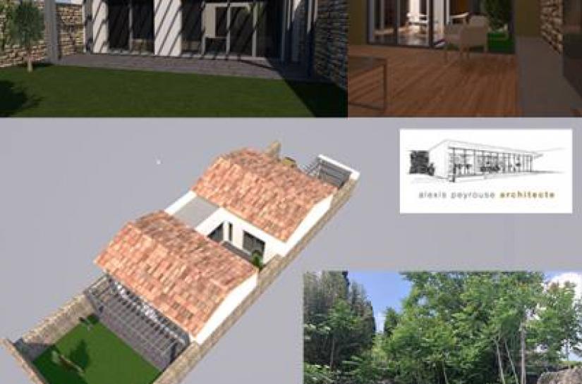 ALEXIS PEYROUSE ARCHITECTE LAUDUN TAVAL MAISON GARD ARCHITECTURE