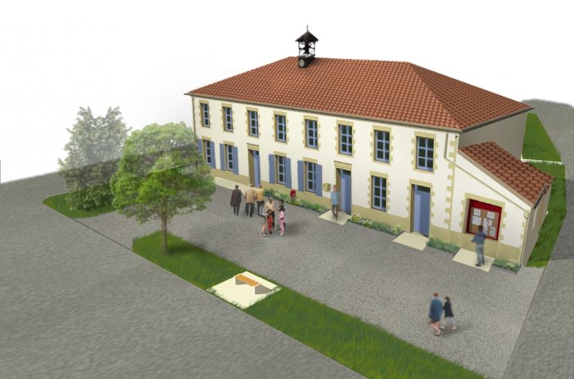 Bâtiment communal Seigneulles Benjamin Fedeli Architecte