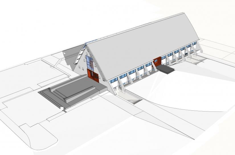 Bibliothèque municipale Behren-lès-Forbach Benjamin Fedeli Architecte