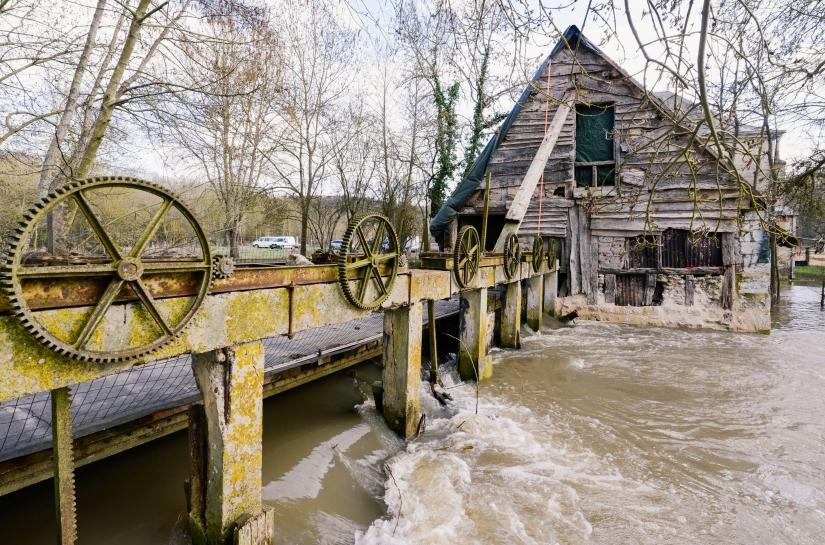 Moulin 17ème : état actuel /Fondation du Patrimoine