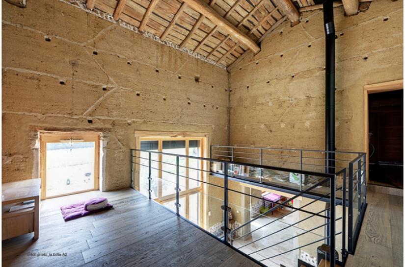 éco-rénovation maison en pisé à Vienne