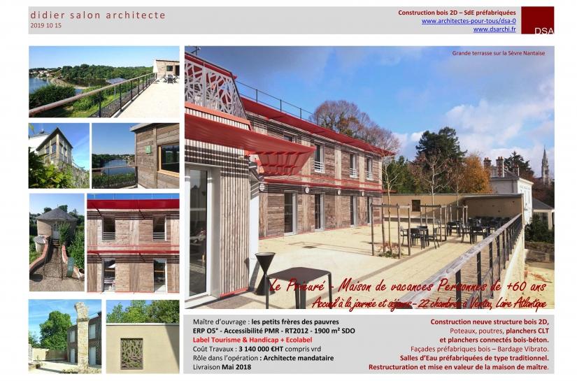 DSA Le Prieuré Vertou Maison de Vacances Personnes âgées - Construction Bois