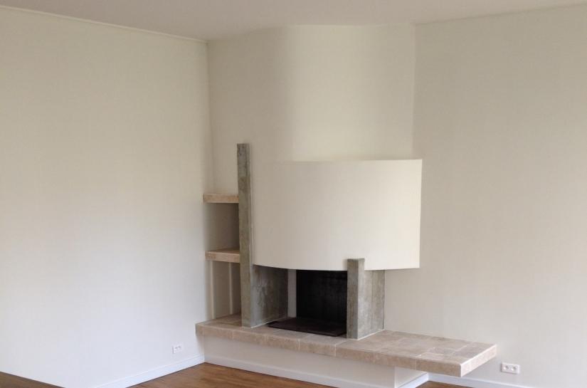 cheminée / meuble bas menuisé