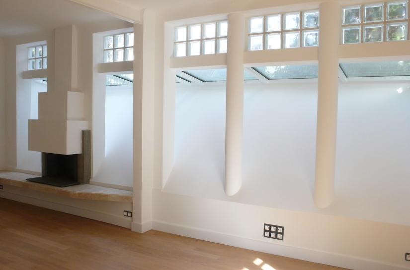 percement façade / verriere / pavés de verre / cheminée