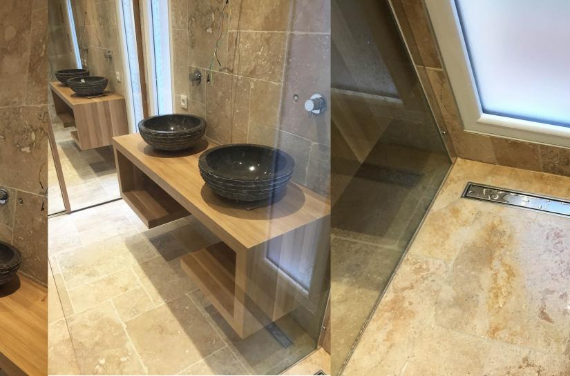 Transformation d'une terrasse couverte en salle d'eau