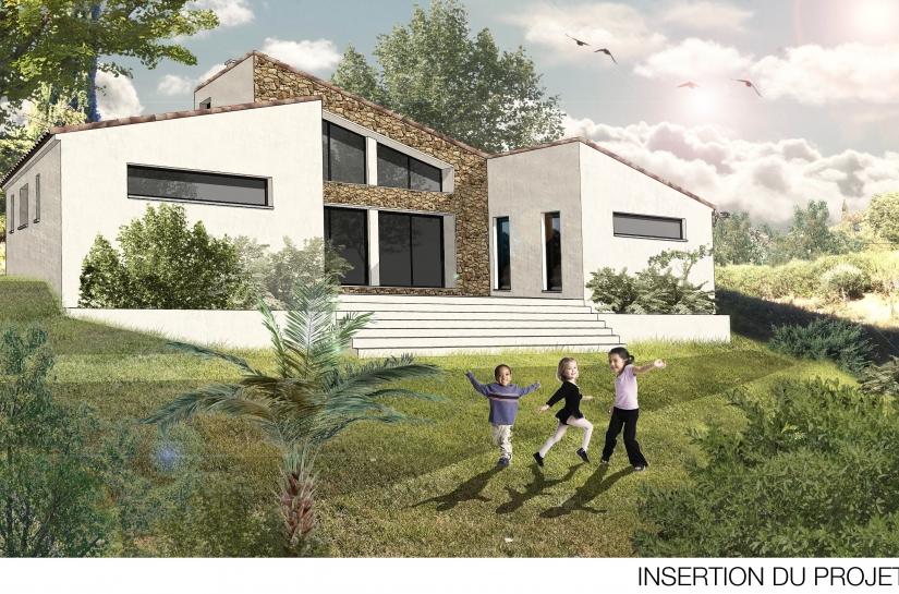 Construction d'une villa contemporaine