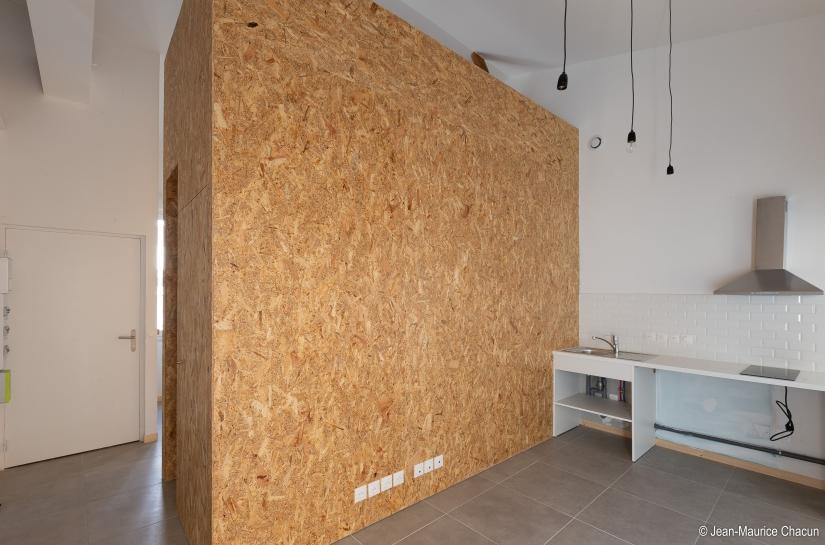 JRA Justine Reverchon Architecte - B74, transformation d'une échoppe en deux appartements