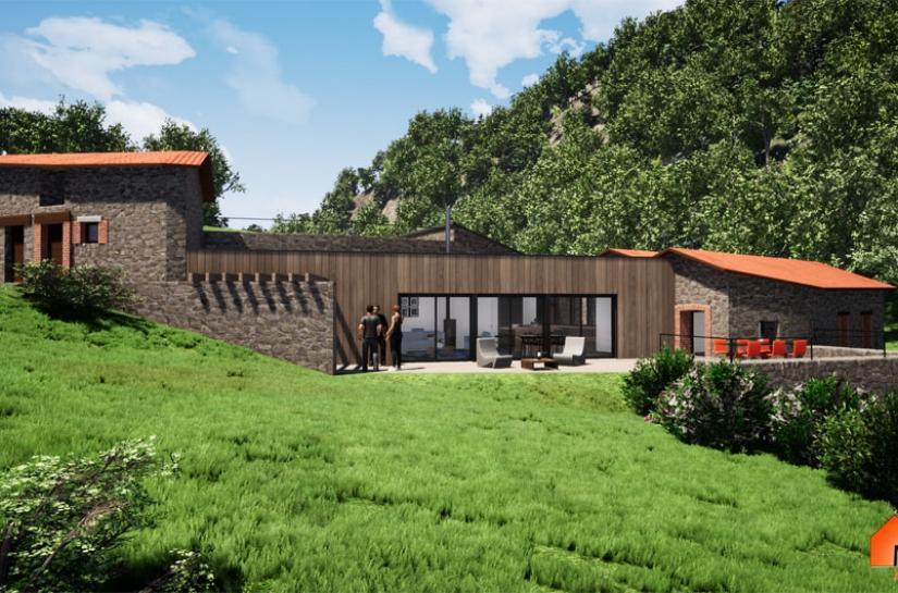 Rénovation et Extension d'un ancien Moulin
