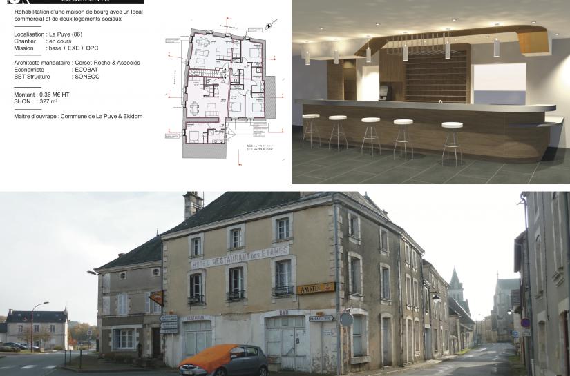 Local commercial et logements sociaux à La Puye