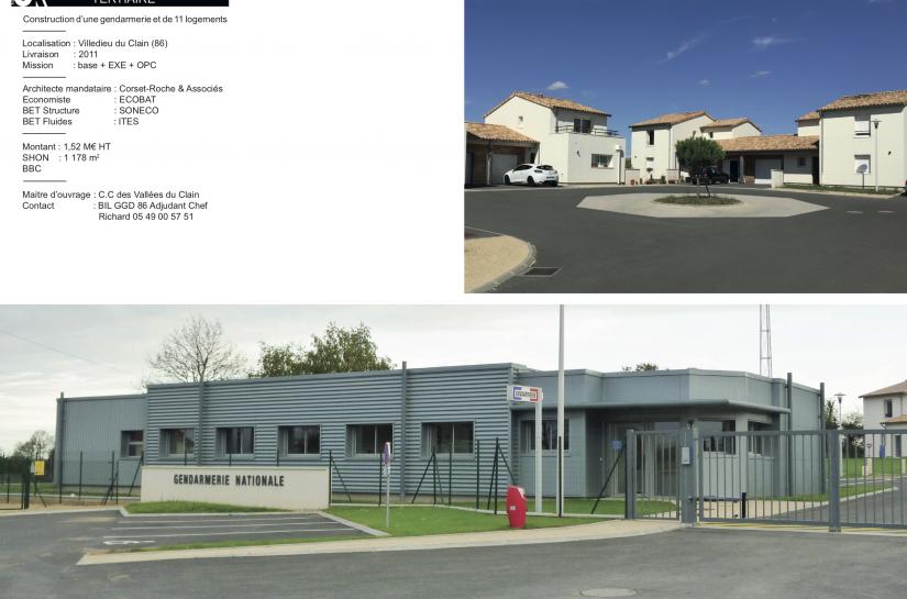 Gendarmerie et 11 logements à La Villedieu-du-Clain