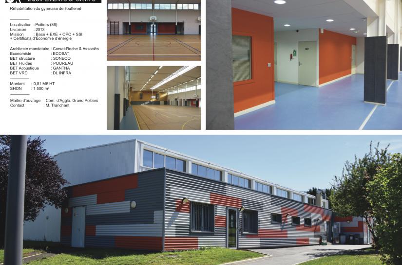 Gymnase de Touffenet à Poitiers